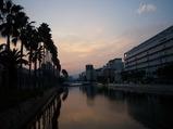 高知駅近くの川